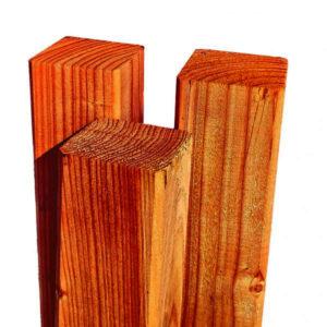 Kantholz Lärche braun imprägniert (Kreuzholz gehobelt)